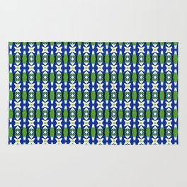 Links of Blue and Green Rug