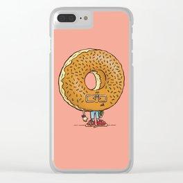 Nerd Donut Clear iPhone Case