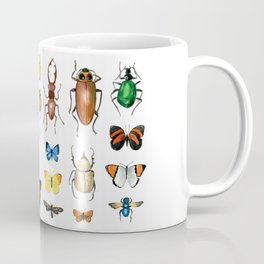 The Usual Suspects - insects on white Coffee Mug