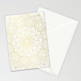 The Golden Mandala Illustration Pattern Stationery Cards