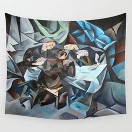Three Men Playing Cards  Wall Tapestry