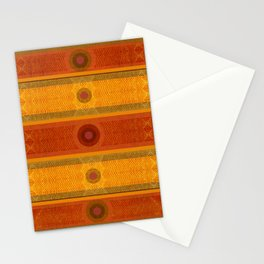 """Ethnic Pattern Warm Tones II"" Stationery Cards"
