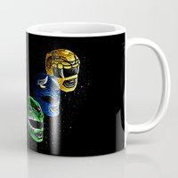 power rangers Mugs featuring Mighty Morphin Power Rangers by Jelly Soup Studios