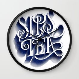 Sips Tea Wall Clock
