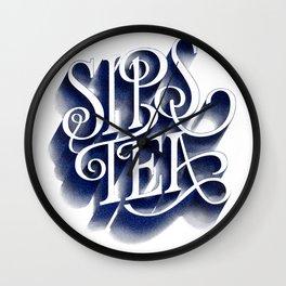 Sips Tea Wall Clock
