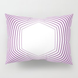 Polygon in White Pink Pillow Sham