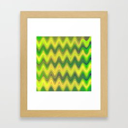 Agate Wave Green - Mineral Series 002 Framed Art Print