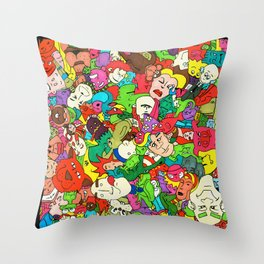 Marker Madness Throw Pillow