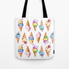 Ice cream watercolor Tote Bag