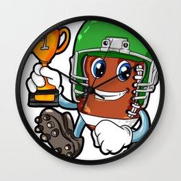 American FOOTBALL CHAMPION Trophy Son Present Wall Clock