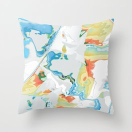 Eazy peazy painterly squeezy Throw Pillow