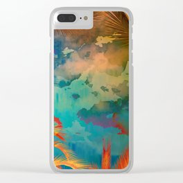A place for lying down and look up / Botanic Clear iPhone Case