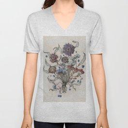 Autumn Florals Unisex V-Neck