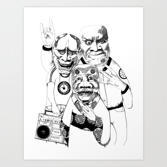 East/ West -->Please vote for my submission on Threadless  !!  Art Print