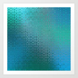 Trinity Pattern (ocean blues) Art Print