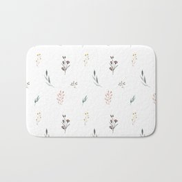 Little botanics pastel pattern Bath Mat