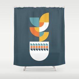 Geometric Plant 02 Shower Curtain