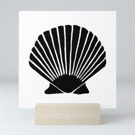 Black Seashell Mini Art Print