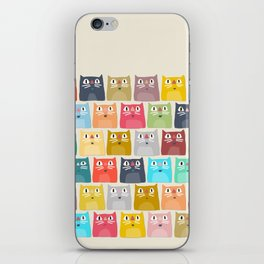 summer cats iPhone Skin