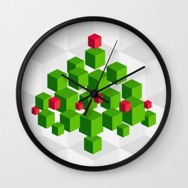 Christmas tree 3D Wall Clock