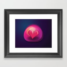 Heart Bubble Framed Art Print