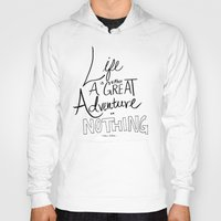 adventure Hoodies featuring Great Adventure by Leah Flores