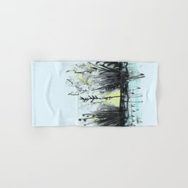 Cattails in the grass Hand & Bath Towel