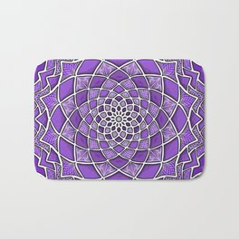 12-Fold Mandala Flower in Purple Bath Mat