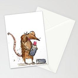 rat eating lippy Stationery Cards