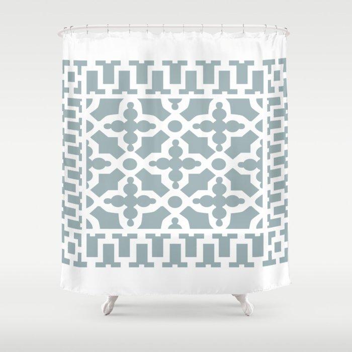 Kirkbride Victorian Ventilation Grille Design Pale Blue Shower Curtain