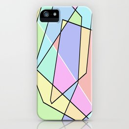 Abstract Pastel iPhone Case