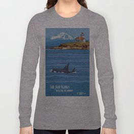 Vintage poster - San Juan Islands Long Sleeve T-shirt