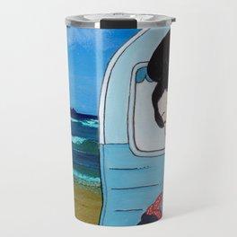 Mrs Hokusai Goes To The Amenities Block Travel Mug