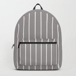 White Stripe + Grey Backpack