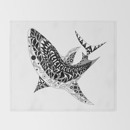 Mr Shark ecopop Throw Blanket