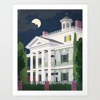 haunted mansion Art Prints featuring Haunted Mansion by BKgraphicART