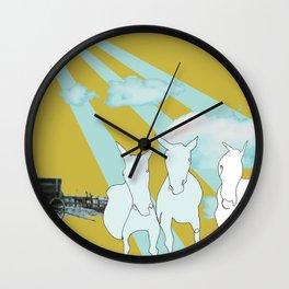 Horses. Wall Clock