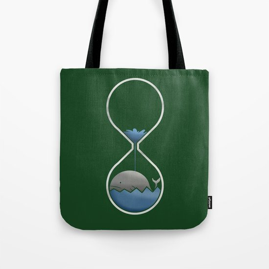 whale hourglass Tote Bag