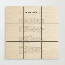 The Four Agreements BW #minimalism Wood Wall Art