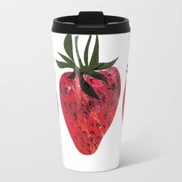 Three tasty looking strawberries Travel Mug