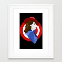 agent carter Framed Art Prints featuring Agent Carter by fabulosaurus