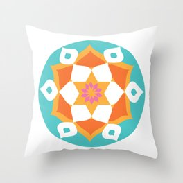 Rangoli of Love Throw Pillow