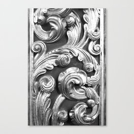Decorative metalic foliage ornaments Canvas Print