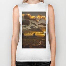 Monument Valley - Vivid Sunrise Biker Tank