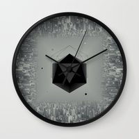 xbox Wall Clocks featuring City Intruder by Zavu