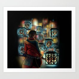 The Wastelands ghost lights Art Print