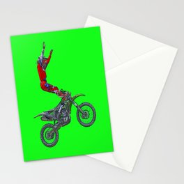 MotoCross Aerial Foot Grab Sports Stunt Stationery Cards