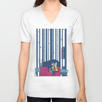50s V-neck T-shirts featuring Diner by Ale Giorgini