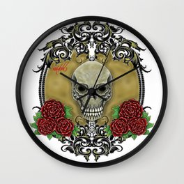 """ A Portrait Of Death "" Wall Clock"
