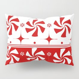 Red Peppermint Candy Pillow Sham